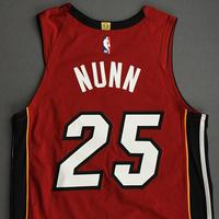 Kendrick Nunn - Miami Heat - Game-Worn - Statement Edition Jersey - Christmas Day 2020 - Dressed, Did Not Play (DNP)