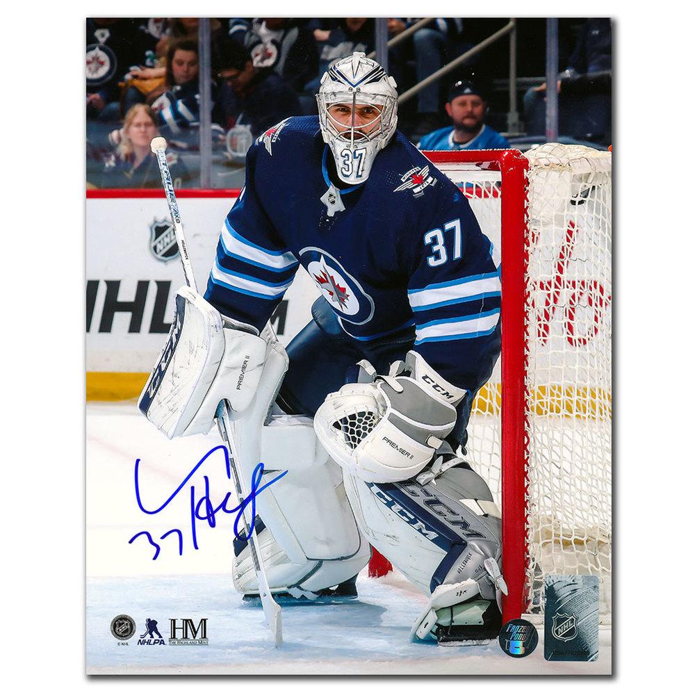 Connor Hellebuyck Winnipeg Jets Autographed 8x10