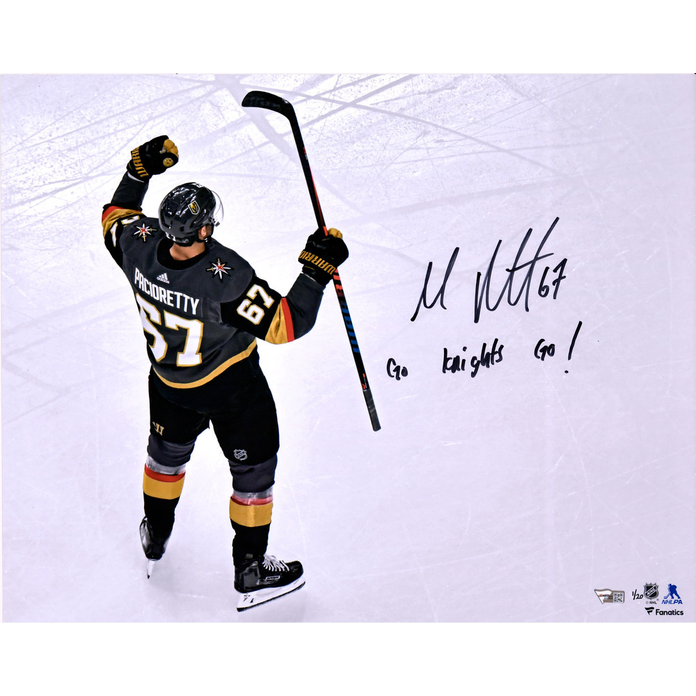 Max Pacioretty Vegas Golden Knights Autographed 16