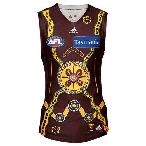 Photo of #36 Dylan Moore Match-worn and signed Indigenous Guernsey