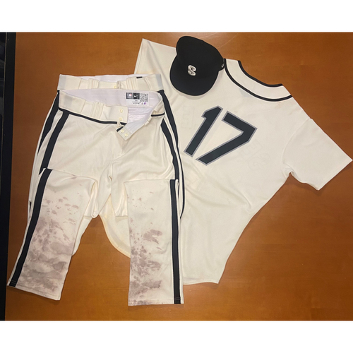 Photo of 2021 Game Used Seattle Steelheads Salute to Negro Leagues Uniform - #17 Mitch Haniger