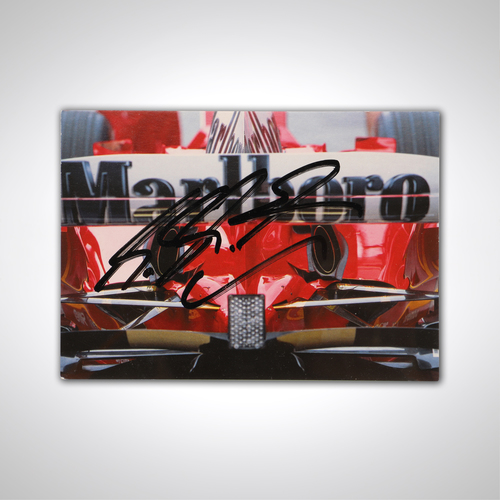 Photo of Michael Schumacher 2004 Signed Postcard