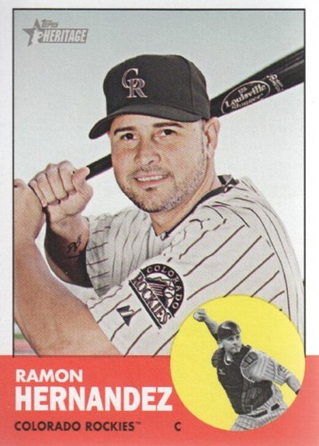 Photo of 2012 Topps Heritage #326 Ramon Hernandez
