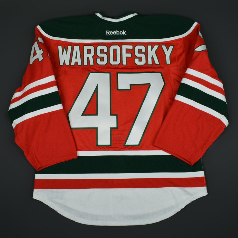 the latest 51415 9d96e David Warsofsky - New Jersey Devils - Retro Night Game ...
