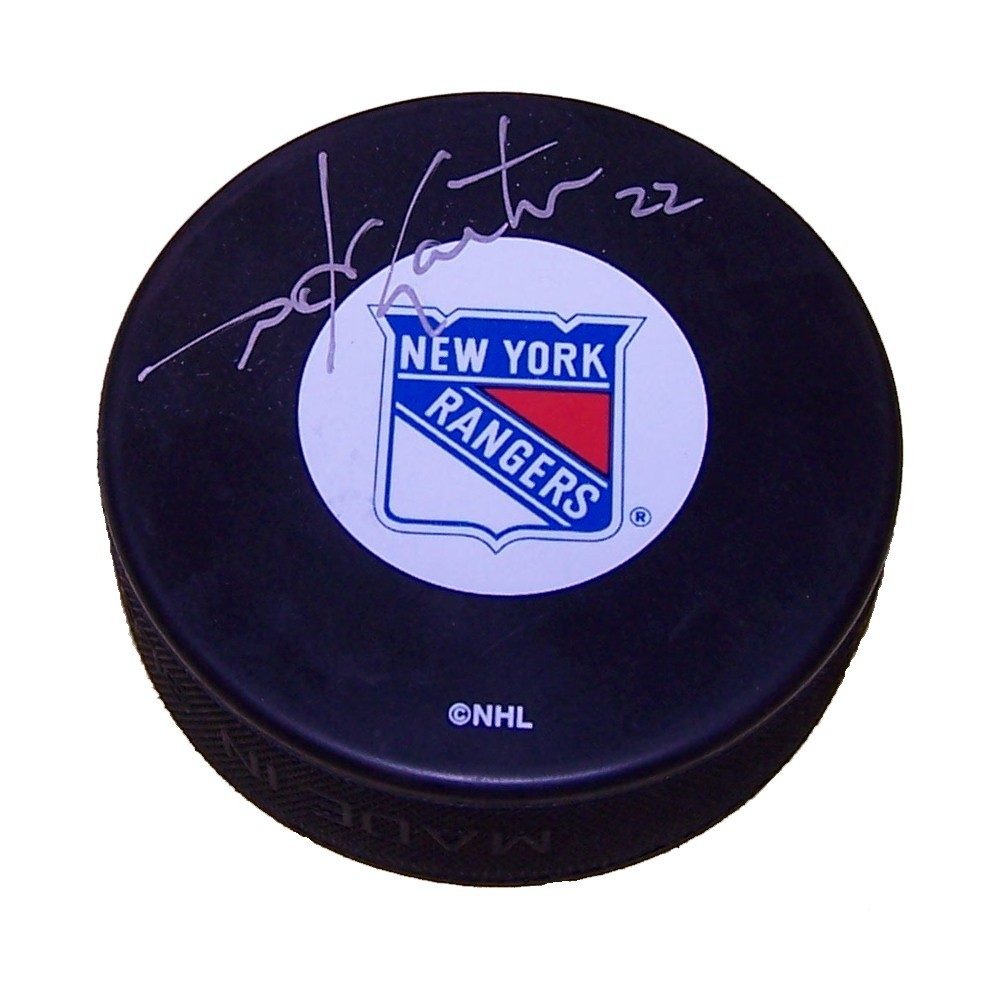 Mike Gartner Autographed New York Rangers Puck