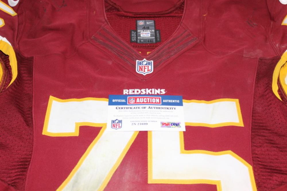 NFL Auction | STS - REDSKINS BRANDON SCHERFF GAME WORN REDSKINS ...