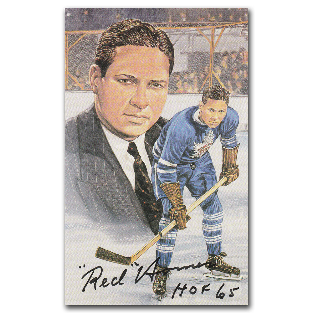 Red Horner (deceased) Autographed Toronto Maple Leafs Limited-Edition Legends of Hockey Card