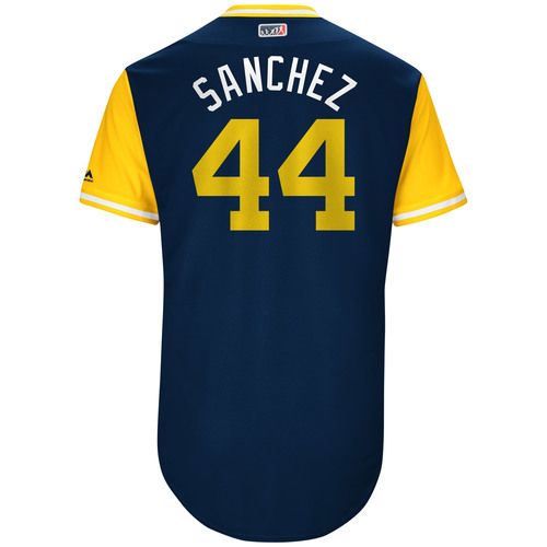 "Photo of Hector ""Sanchez"" Sanchez San Diego Padres Game-Used Players Weekend Jersey"