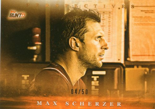 Photo of 2017 Topps Bunt Perspectives Orange #PMS Max Scherzer 4/50 -- Nationals post-season