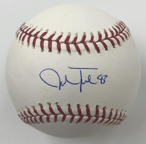 Photo of Josh Tomlin Autographed Baseball