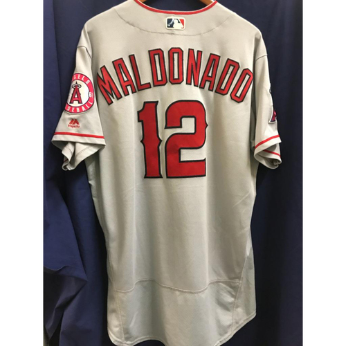 Photo of Martin Maldonado Game-Used Road Jersey