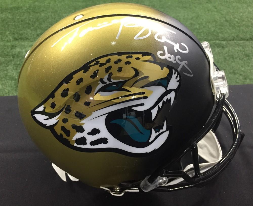 NFL Draft - Taven Bryan signed Jaguars Helmet