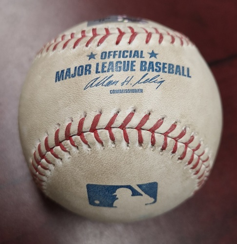 Photo of Authenticated Game Used Baseball - Foul Ball by Alex Rodriguez against Ricky Romero (September 29, 2012 vs New York Yankees). Top 1.
