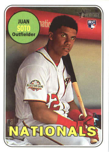 Photo of 2018 Topps Heritage #502 Juan Soto RC