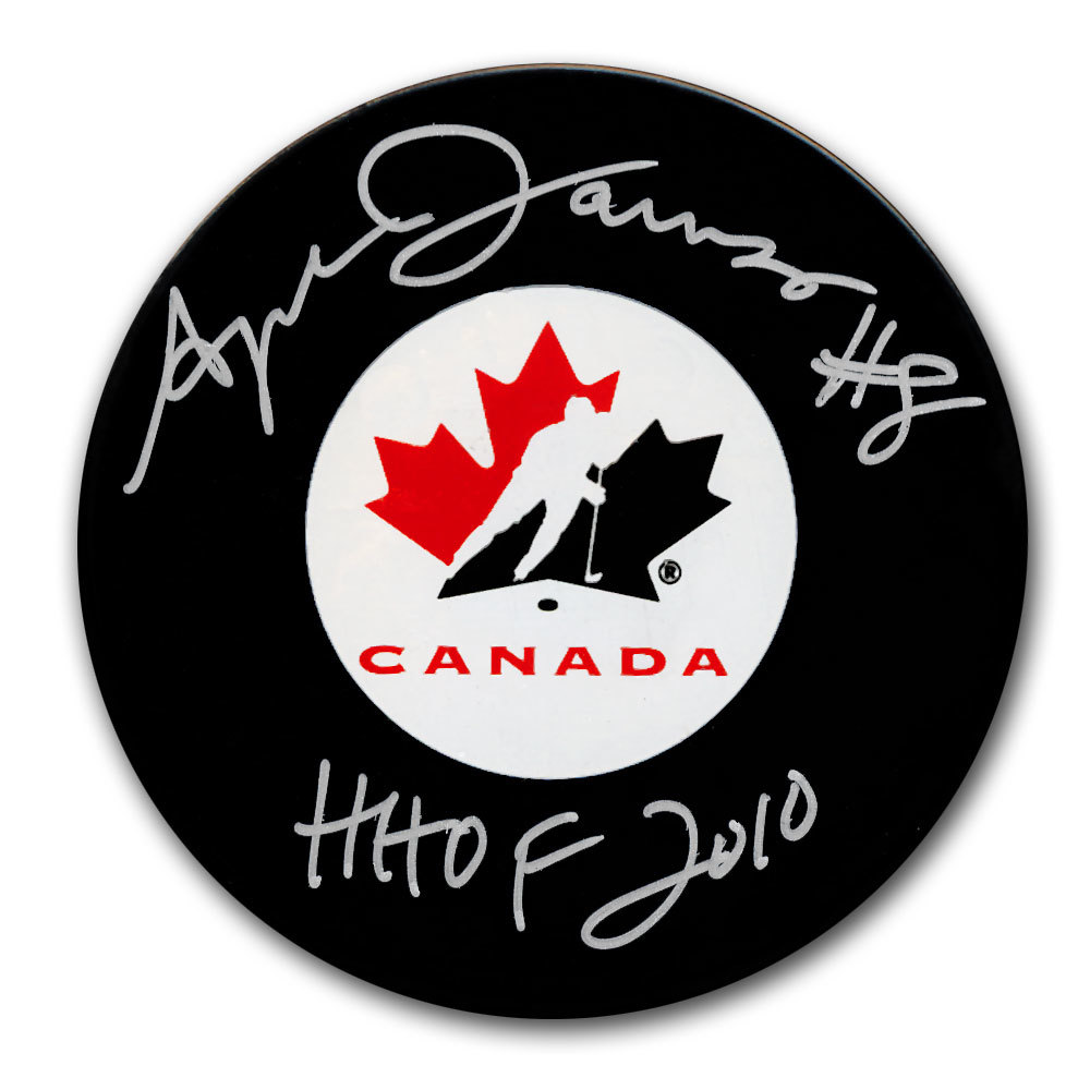Angela James Team Canada HOF Autographed Puck