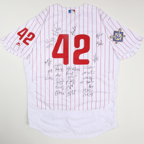 Photo of 2019 Jackie Robinson Day Jersey - Philadelphia Phillies Team Autographed Jersey