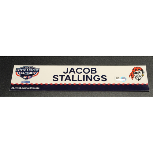 Photo of 2019 Little League Classic - Game Used Locker Tag - Jacob Stallings,  Chicago Cubs at Pittsburgh Pirates - 8/18/2019