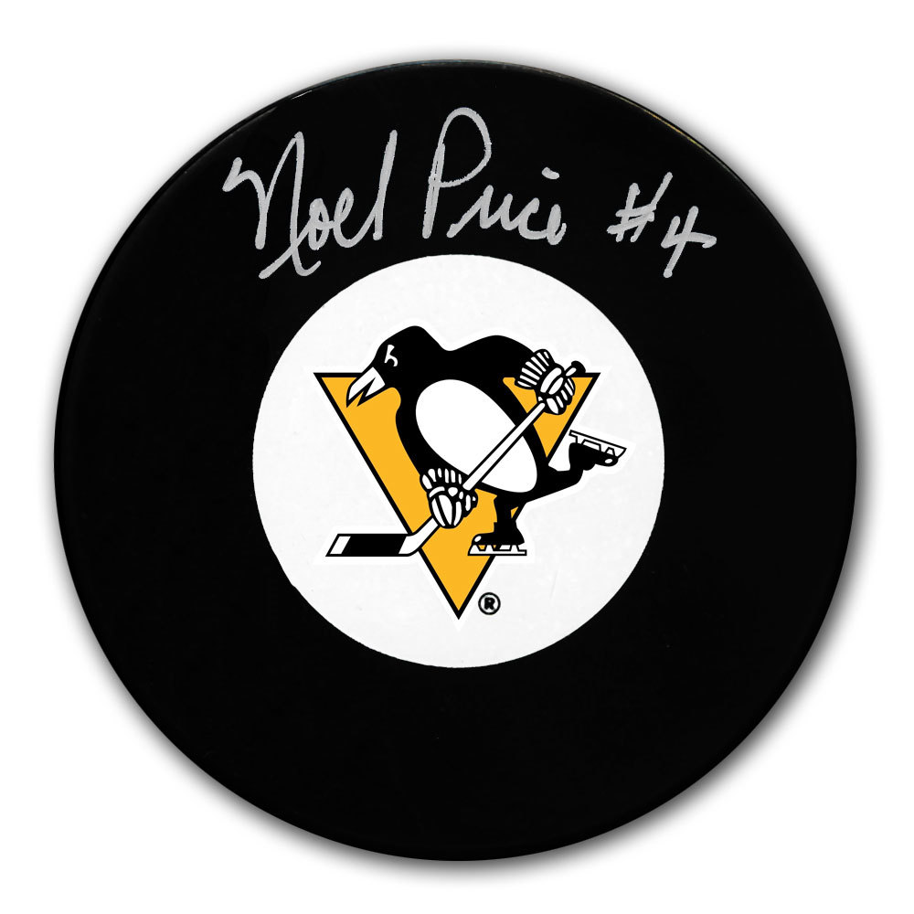 Noel Price Pittsburgh Penguins Autographed Puck