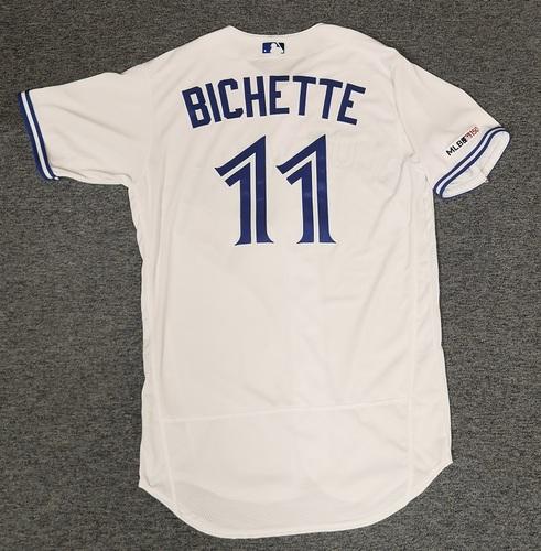 Photo of Authenticated Team Issued Jersey: #11 Bo Bichette (2019 Season). Size 44. Rookie Season