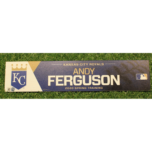 Photo of Game-Used 2020 Spring Training Locker Tag: Andy Ferguson