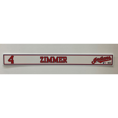 Photo of Game-Used Locker Name Plate - Bradley Zimmer