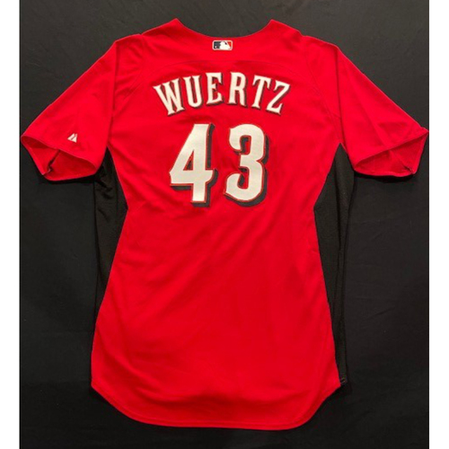 Photo of WUERTZ -- Authentic Reds Jersey -- $1 Jersey Auction -- $5 Shipping -- Size 48 (Not MLB Authenticated)