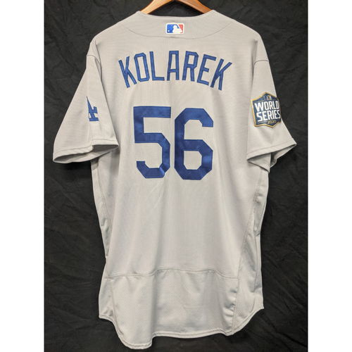 Photo of Adam Kolarek Game-Used 2020 Road World Series Jersey