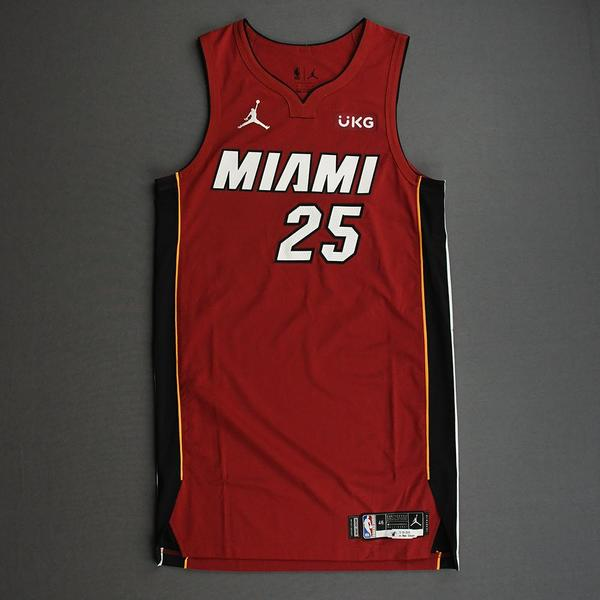 Image of Kendrick Nunn - Miami Heat - Game-Worn - Statement Edition Jersey - Christmas Day 2020 - Dressed, Did Not Play (DNP)