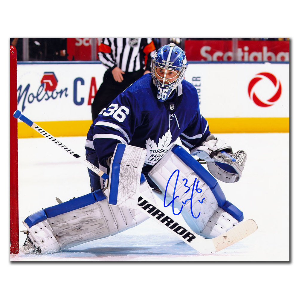 Jack Campbell Toronto Maple Leafs Autographed 8x10