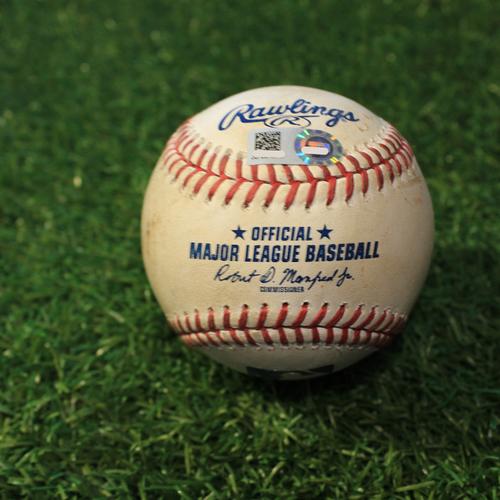 Photo of Game-Used Baseball: Danny Mendick 36th Career Hit (CWS@KC 9/6/20)