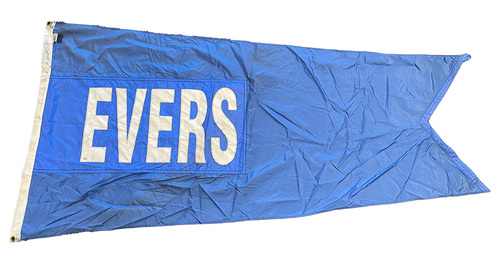 Photo of Wrigley Field Collection -- Rooftop Flag --  Johnny Evers