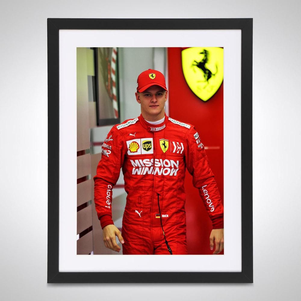Mick Schumacher 2019 Ferrari Test Bahrain - James Moy Print