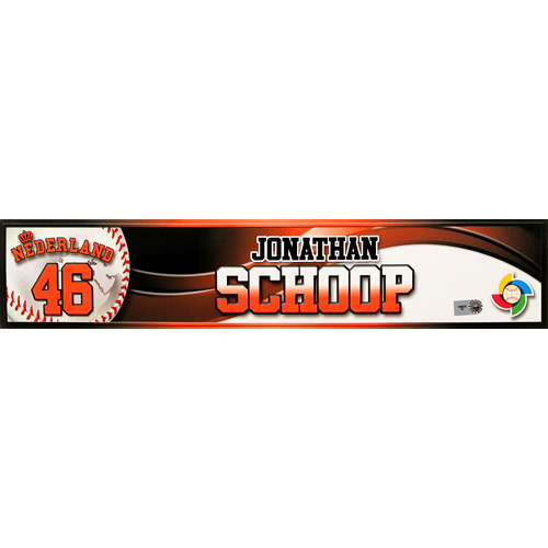 2013 World Baseball Classic: Jonathan Schoop (NED) Game-Used Locker Name Plate