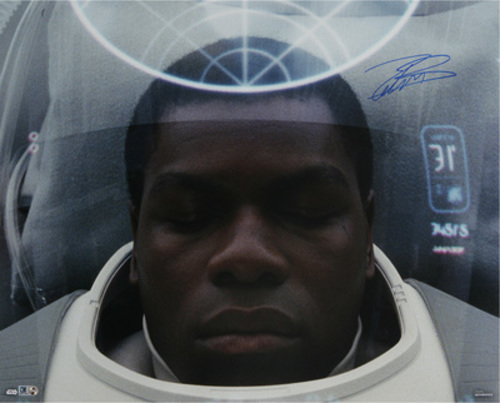 John Boyega as Finn 16x20 Autographed in Blue Ink Photo
