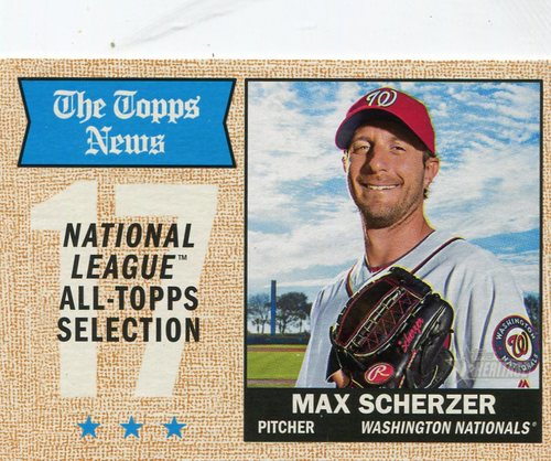 Photo of 2017 Topps Heritage #378 Max Scherzer