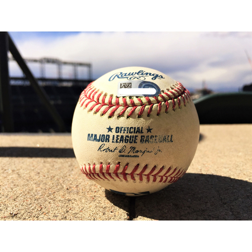 Photo of Colorado Rockies Josh Bell Game-Used Baseball - Triple