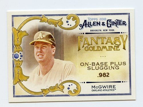 Photo of 2018 Topps Allen and Ginter Fantasy Goldmine #FG10 Mark McGwire