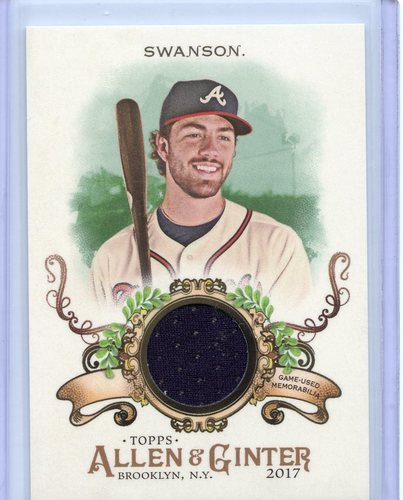 Photo of 2017 Topps Allen and Ginter Relics #FSRBDS Dansby Swanson B