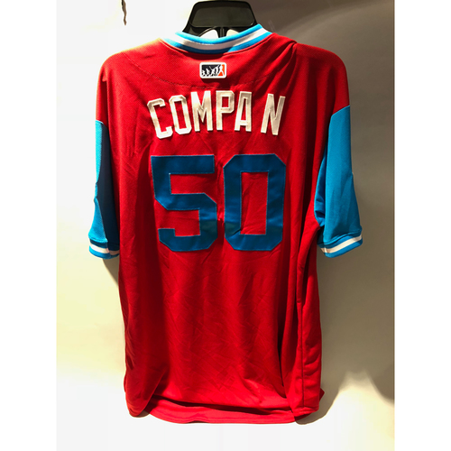 "Photo of Philadelphia Phillies 2018 Little League Classic Game-Used Jersey - Hector ""Compa N"" Neris - 8/19/2018"