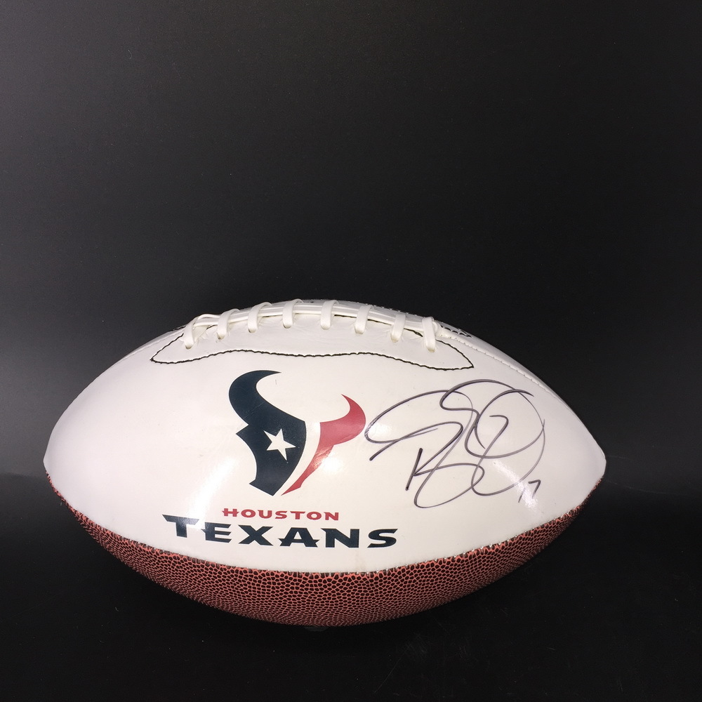 Texans - Brock Osweiler Signed Panel Ball W/ Texans Logo