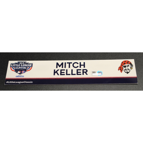 Photo of 2019 Little League Classic - Game Used Locker Tag - Mitch Keller,  Chicago Cubs at Pittsburgh Pirates - 8/18/2019