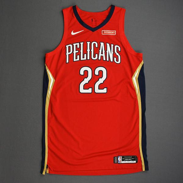Image of Derrick Favors - New Orleans Pelicans - Christmas Day' 19 - Game-Worn 1st Half Statement Edition Jersey