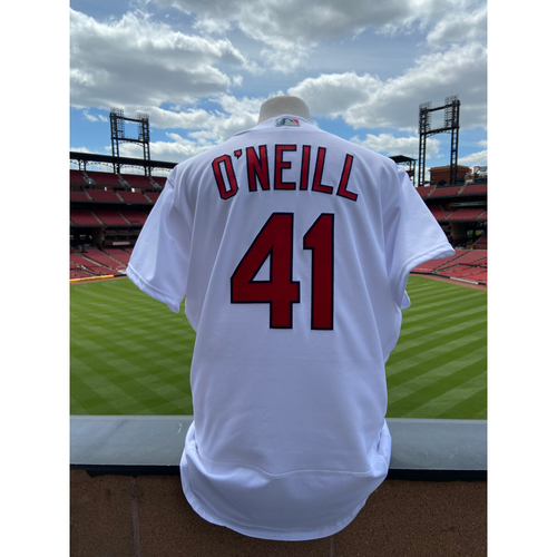 Photo of Cardinals Authentics: Game Worn Tyler O'Neill Home White Cardenales Jersey