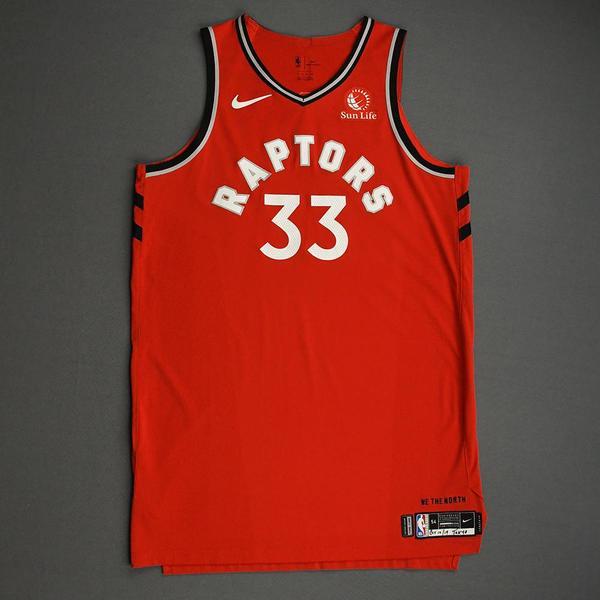 Image of Marc Gasol - Toronto Raptors - Game-Worn Icon Edition Jersey - NBA Japan Games - 2019-20 NBA Season