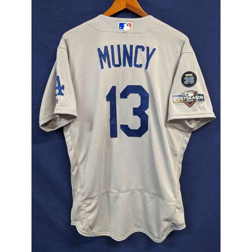 Max Muncy Team Issued 2019 Road Postseason Jersey