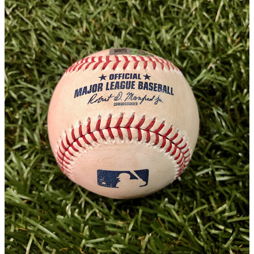 Photo of Game Used Baseball: Joey Wendle fly out and Michael Brosseau double off Masahiro Tanaka - July 5, 2019 v NYY