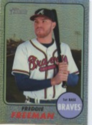 Photo of 2017 Topps Heritage Chrome Purple Refractors #THC449 Freddie Freeman