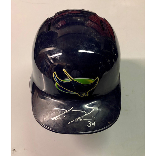 Photo of Team Issued Autographed Devil Rays Helmet: Kevin Kiermaier
