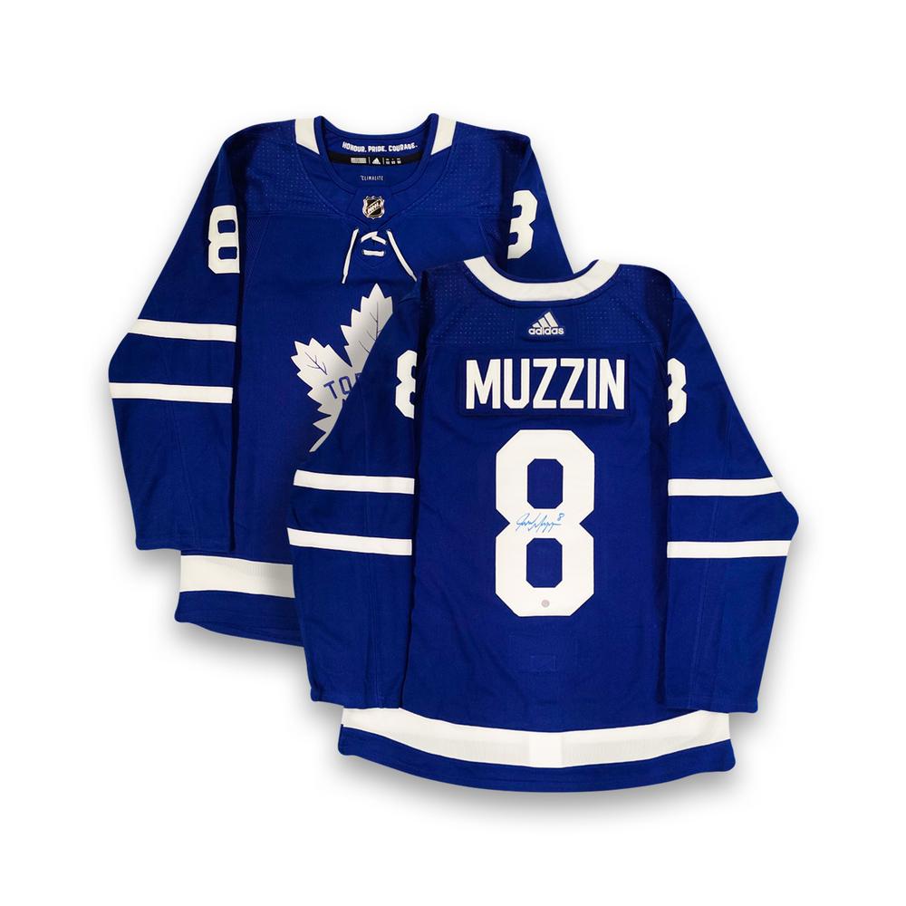 Jake Muzzin Signed Jersey Maple Leafs Pro Blue 2017-2021 Adidas