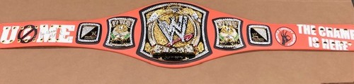 John Cena SIGNED Signature Series Spinner Championship Replica Title (The Champ is Here)